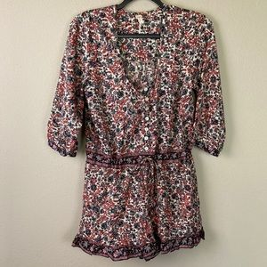 RAGA ANTHROPOLOGIE Floral Romper Medium